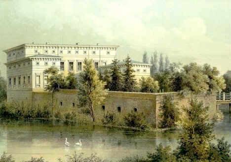 kolorierte Lithografie von Duncker ca. aus dem Jahr 1848